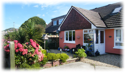 The front of CozyKnights Bed and Breakfast - 16 Longland Lane, Georgeham Devon